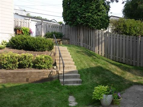 terraced backyards terraced backyard with stairs and paver patio