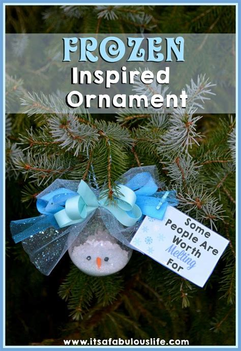 printable frozen ornaments disney s frozen inspired melted snowman ornament with free