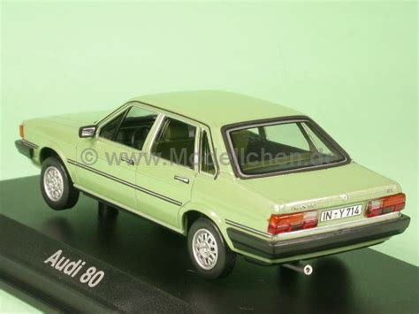 Audi B Hl by Audi 80 B2 Gruen Modellauto Norev 1 43 Modellchen De