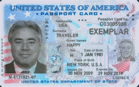 usa id card template united states passport card