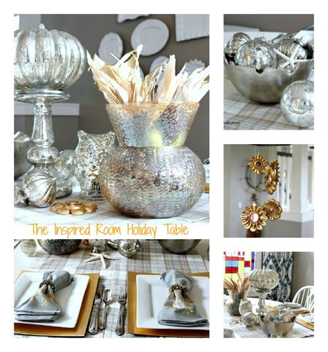 silver gold holiday table the inspired room