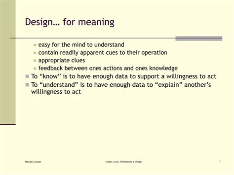 design cue meaning ppt the overlooked role of cues in design powerpoint