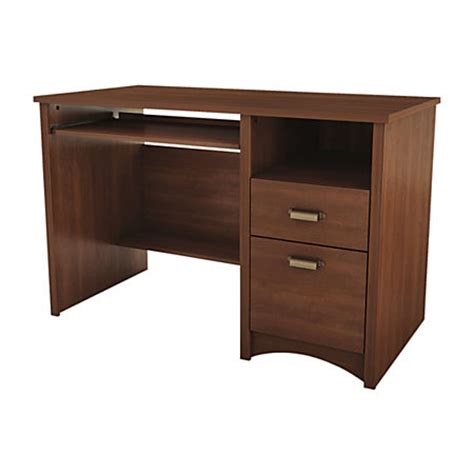 small cherry wood desk south shore furniture gascony wood small desk sumptuous cherry by office depot officemax