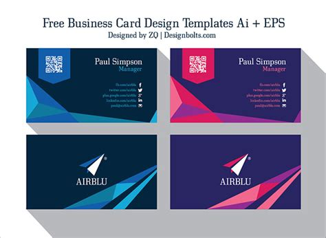 id card design template ai 2 free professional premium business card design templates