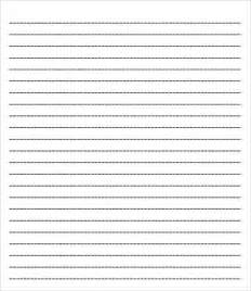 Printable Paper Templates by College Ruled Paper Template 6 Free Pdf Documents