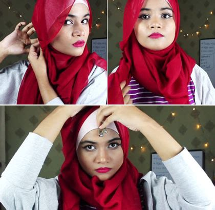 tutorial hijab pesta india foto tutorial hijab untuk si pipi chubby ala hijabers india