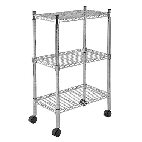 sandusky 3 shelf heavy duty mobile wire shelving unit 22