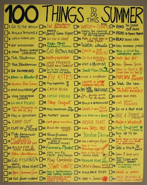 rosana 180 s english blog 100 things to do in summer