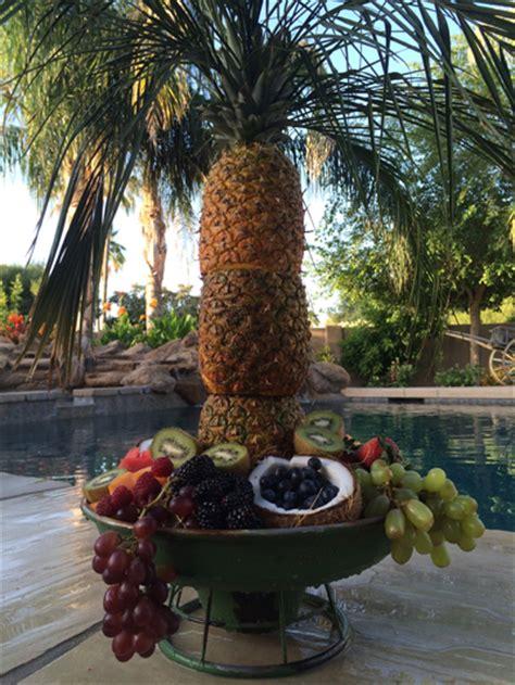 edible tree centerpiece pineapple palm tree fruit bowl les petites gourmettes