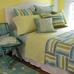 Light yellow comforter bright bedroom interior design