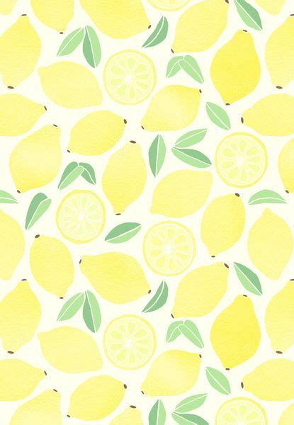 cute lemon pattern summer lemons print and pattern pinterest lemon art
