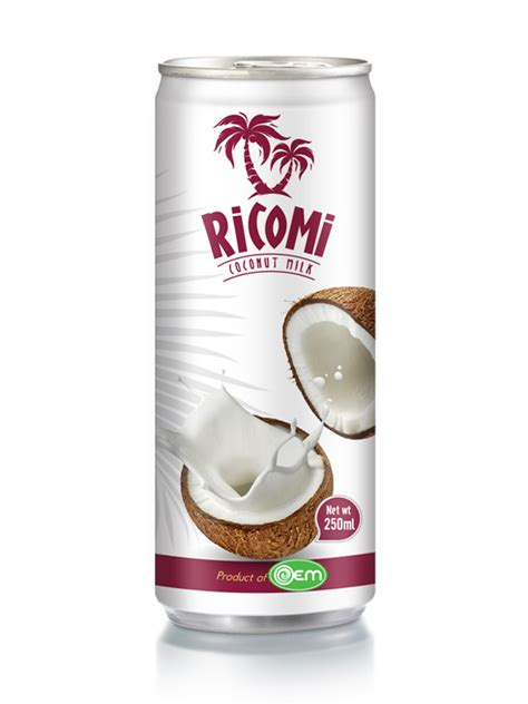 Canned Coconut Milk Shelf by 500ml Oem Soy Milk Oem Manufacturing Beverages