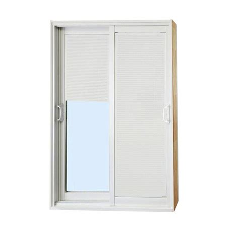 Blind For Patio Doors Stanley Doors 60 In X 80 In Sliding Patio Door With Mini Blinds 500004 The