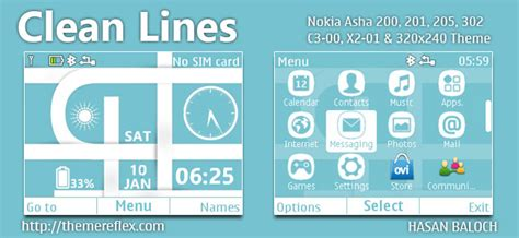 themes untuk nokia 210 tema warna biru lembut untuk nokia c3 00 x2 01 asha 200