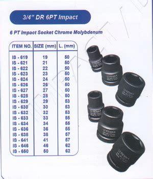 Tekiro Impact Socket 3 4 Inch 6 Pt 34 Mm Mata Sock Impact tenka 3 per 4 inch 6pt impact products of perkakas