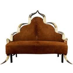 antique longhorn sofa circa 1870 for sale at 1stdibs