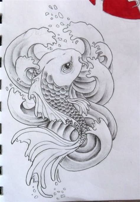 tattoo koi drawing koi fish drawing best tattoo design tattooshunter com