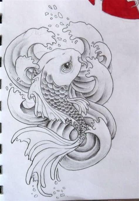 koi fish tattoo sketch koi fish drawing best tattoo design tattooshunter com
