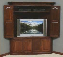 Corner Television Cabinet The Matador Large Corner Tv Cabinet Clear Creek Amish