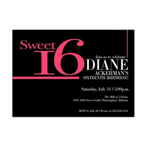 Sweet 16 Invitations by Big Pink Sweet 16 Invitations Paperstyle