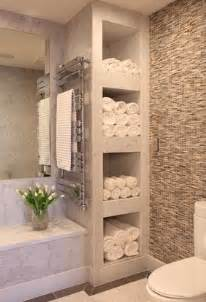 Under Cabinet Tv Radio Bathroom With Shelves For Towels Feels Like A Spa