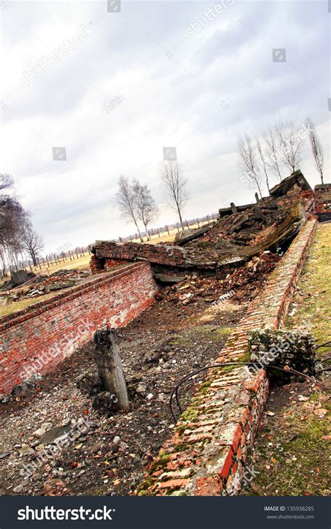 panoramio photo of auschwitz birkenau wall of memories ruins brick buildings auschwitz birkenau concentration