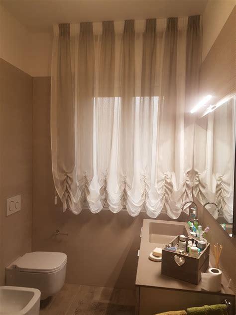 tende finestre bagno tenda a finto pacchetto con tessuto a colori alternati per