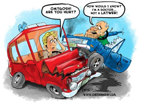 cartoon car crash i m not a lawyer cartoon cartoon