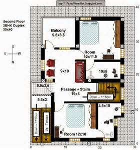 floor plan for 30x40 site my little indian villa 40 r33 1bhk and 3bhk in 30x40