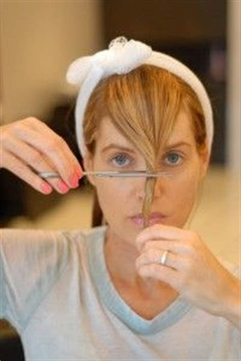 trimming bangs at an angle cut cut your own bangs side swept bangs search and beauty