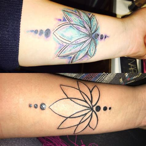watercolor tattoos before and after watercolor lotus flower before after ideas