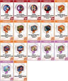 Disney Infinity Power Disc List Disney Infinity Power Discs 1 0 Wave 1 2 3 Rares Works