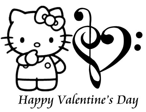 hello kitty coloring pages valentines day free printable valentine coloring pages for kids