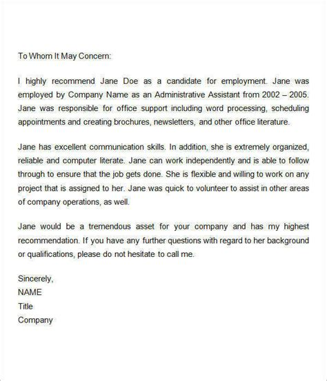 letter of certificate sample clearance from previous employer new