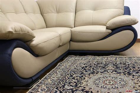 divano angolare in pelle divano ad angolo retto in pelle modello new zealand
