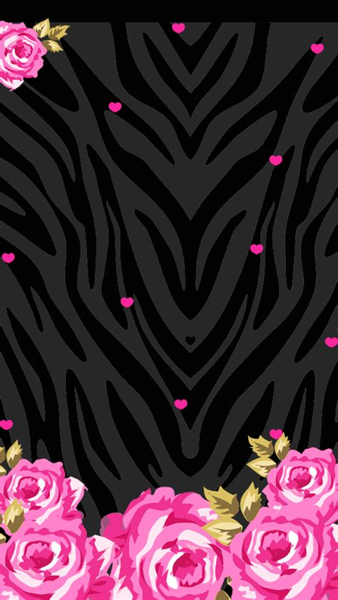 love pink pink black wallpaperfreebie