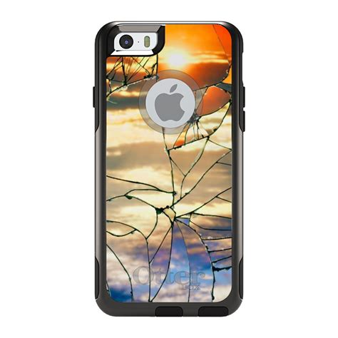 otterbox commuter for iphone 5 6 7 8 plus x xs max shattered glass ebay