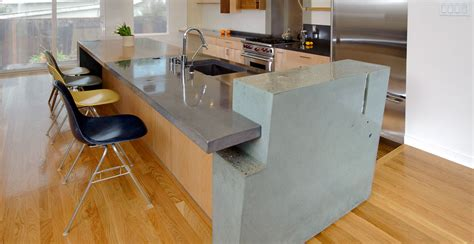 Custom Kitchen Islands by Kitchen Concrete Countertop Gallery Cheng Concrete Exchange