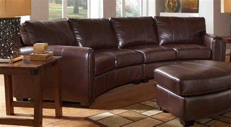curved leather sectional sofa home furniture design