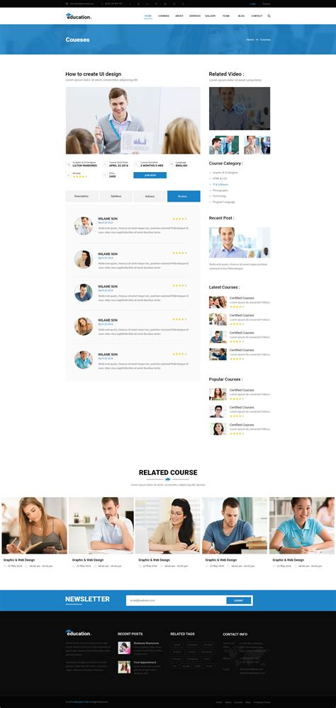 bootstrap templates for learning education learning bootstrap psd template by webstrot