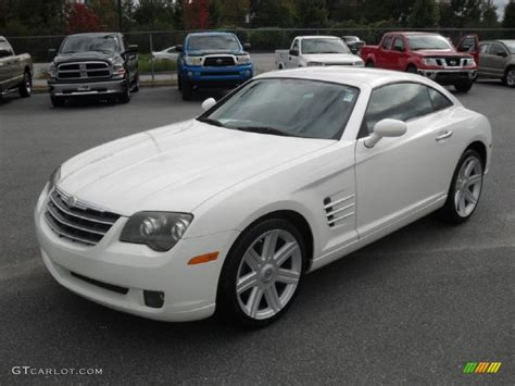 chrysler car white 2004 alabaster white chrysler crossfire limited coupe