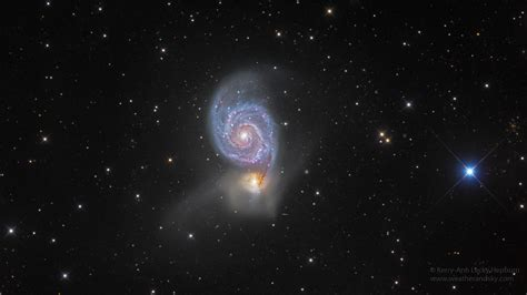 whirlpool galaxy astronomer s pic of the whirlpool galaxy