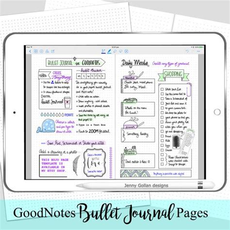 Digital Planner Pages For Ipad Goodnotes Bullet Journal Wreck This Journal Pinterest Goodnotes Planner Template