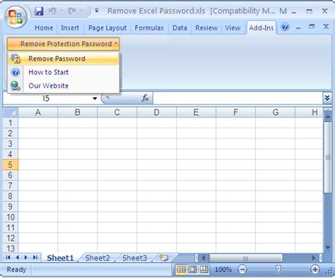 remove vba password on excel remove excel password