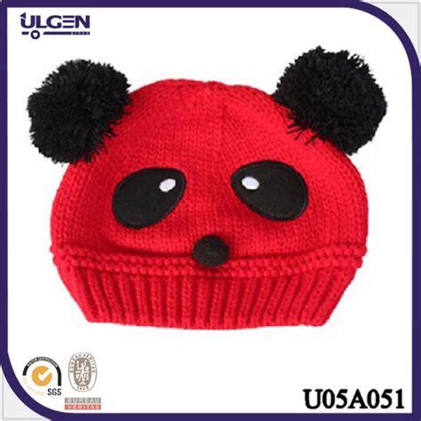 gorro de punto para beb gorros tejidos animales panda de double gorras tejidas newhairstylesformen2014 com