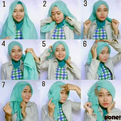 gambar tutorial hijab yang praktis aneka cara memakai hijab segi empat variasi terbaru yang