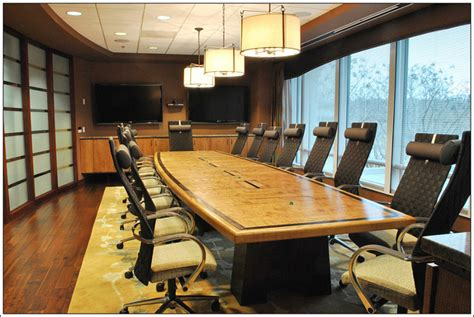 custom conference table design finewoodworking