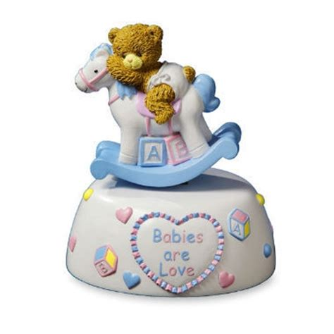 Crank Box Collectible Box Rock A Bye Baby Murahb11036 baby rocking figurine unique collectible