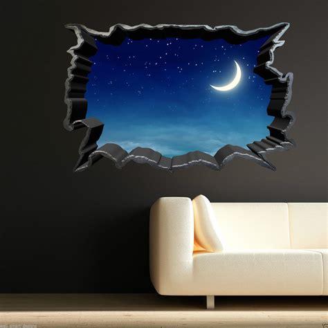 night stars bedroom l full colour moon night sky stars wall art sticker decal
