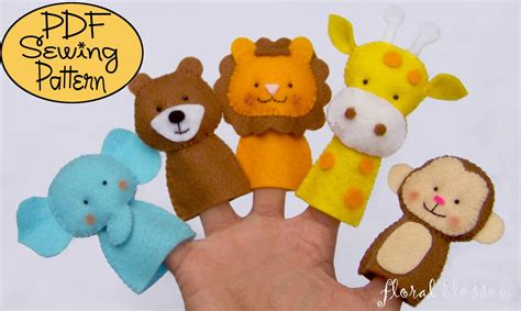 printable zoo animal finger puppets digital pattern zoo friends 01 felt finger puppets
